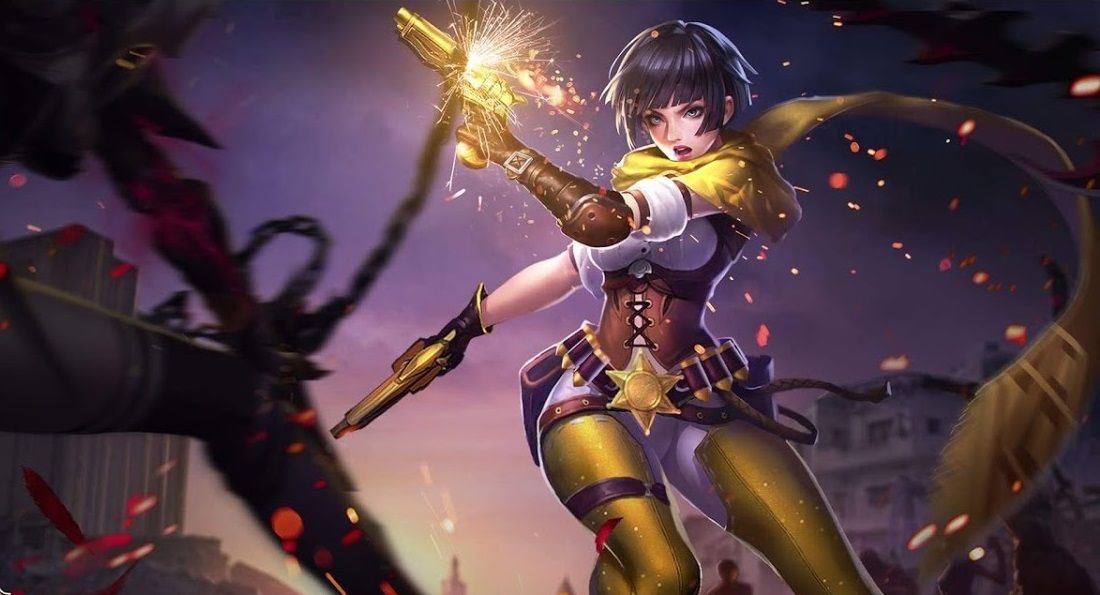 One Of The Recent Releases Violet The Pistol Assassin Gave Arena Of Valor Aov Its Fourth Marksmen To Burn Up The Battlefield