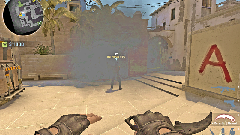Unfair Graphics Setting Allows Vision Through Fading Smoke