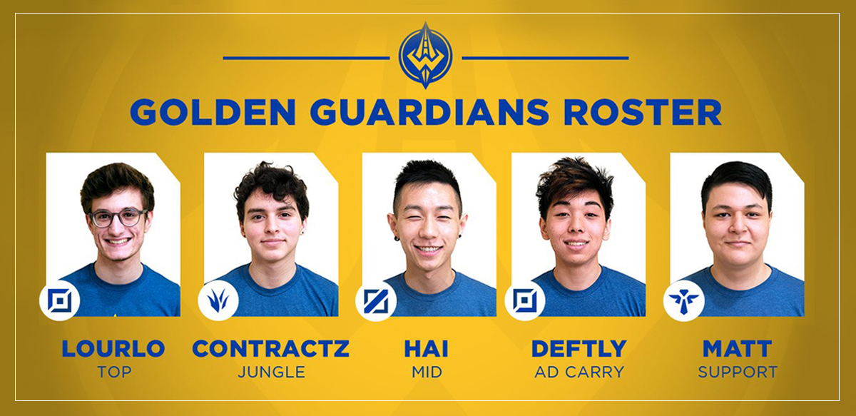 golden guardians, full, roster, 2018, na lcs, esports