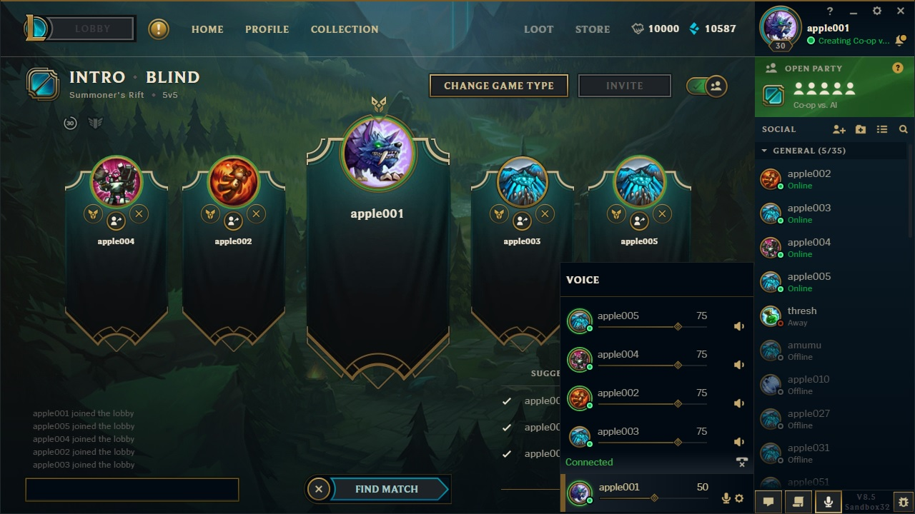 League of legends browser chat